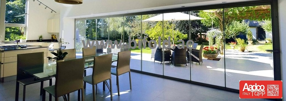 Frameless Folding door in dubai
